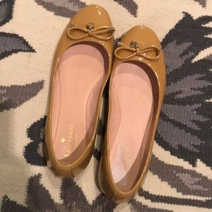 Kate spade camel patent leather flats